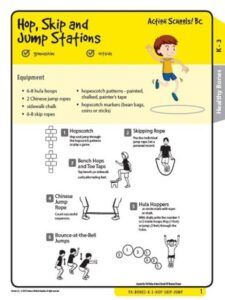 Hop Skip and Jump Stations Activity Gr K-3 image
