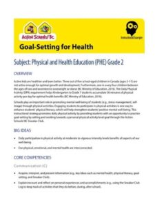 Goal Setting for Health Instructional Example image
