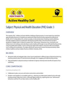 Healthy Active Self Instructional Example image