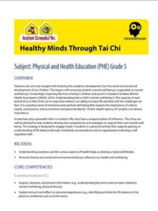 Healthy Minds Through Tai Chi Instructional Example image