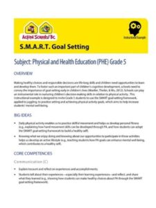 S.M.A.R.T. Goal Setting Instructional Example image