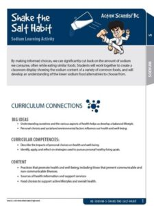 Shake the Salt Habit Activity Gr 5 image