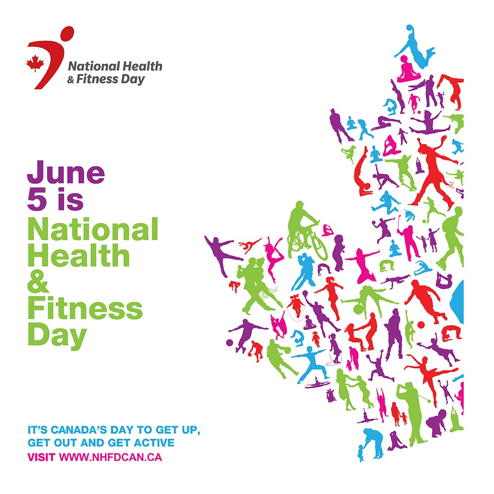 National Health and Fitness Day is June 5th, 2021